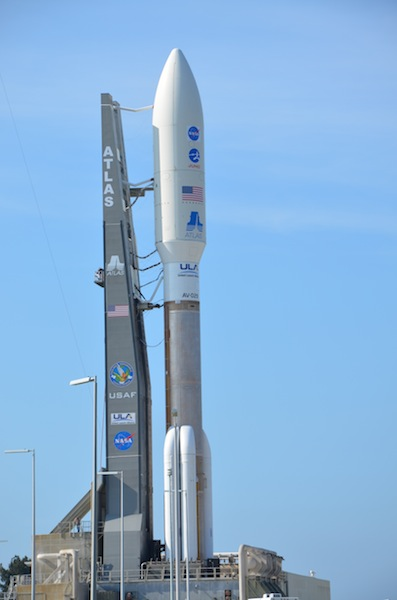 The Juno spacecraft getting ready to launch. Photo by Frederic Allegrini.