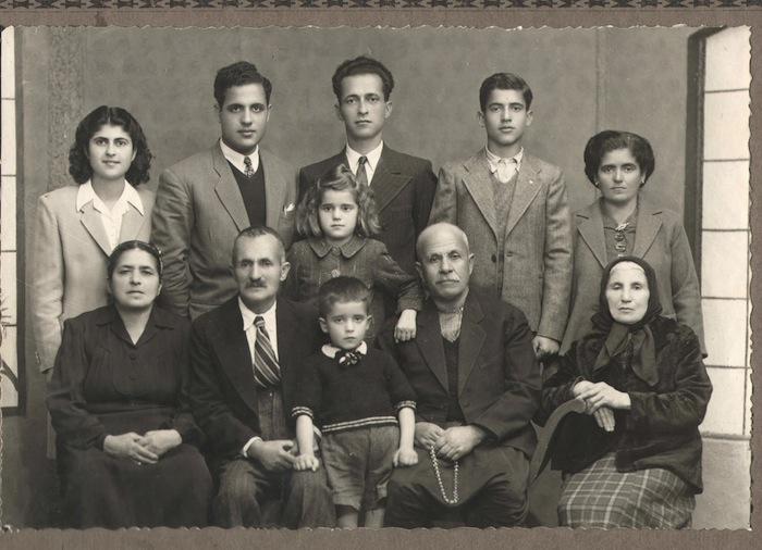 The Meguerditchian family in 1946. Courtesy of Tina Karagulian.