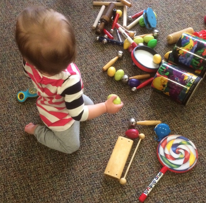 Urban Baby Moira McNeel takes advantage of free time with the instruments after class. Photo by Lewis McNeel