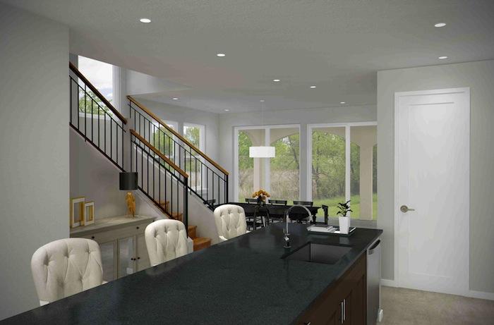 Interior image of the future garden homes. Courtesy image.