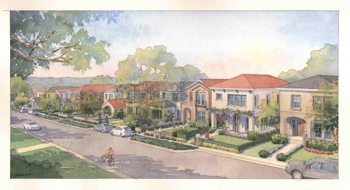 An overall sketch of the Olmos Park garden homes. Courtesy image.