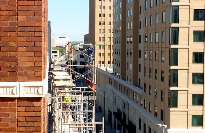 The Rand Building under construction. Photo by Iris Dimmick.