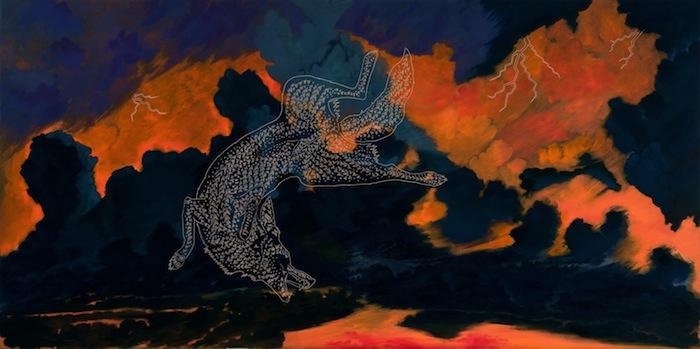 """""""Sky is raining Coyotes"""" by Ricky Armendariz."""