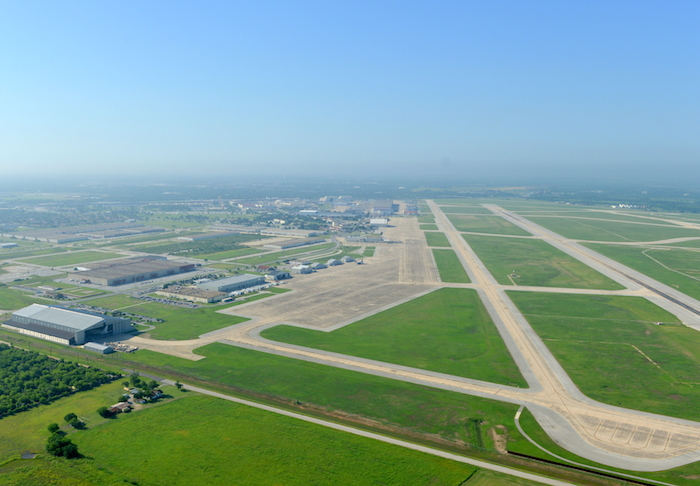 The Port's 400 acres of available land along a large runway is one of only a handful of sites in Texas for major aerospace growth. Photo courtesy of Port San Antonio.