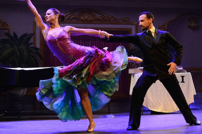 Dancers from C & C Ballroom showcase their grace and excellent choreography during the production. Photo by Sandra Treviño.