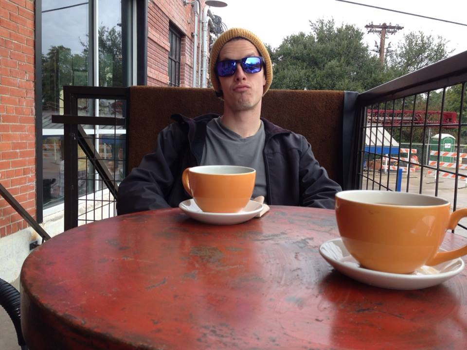 Coffee at Halcyon with Cameron Redus. Photo by Miriam Thomas.