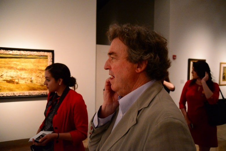 """Wyeth discussing """"The Seven Deadly Sins"""", created 2005-08. Photo by Page Graham."""
