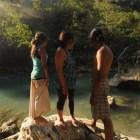 Pamela, Jenss, and Deviana in Guatemala. Photo by Everett Redus.