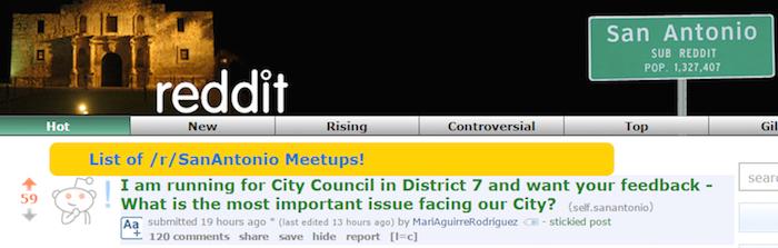 Screenshot from www.reddit.com/r/sanantonio/