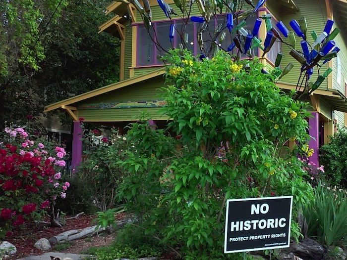 Most houses in Mahncke Park are bungalows built in styles of Mission, Four Square, California and Cottage Tudor. Photo by Edmond Ortiz.