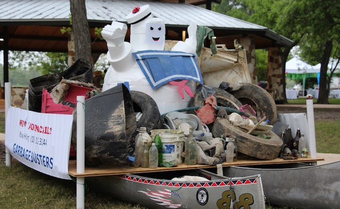 """""""Garbage Busters"""" float at the inaugural Mission Reach Float Fest on Saturday. Courtesy photo."""