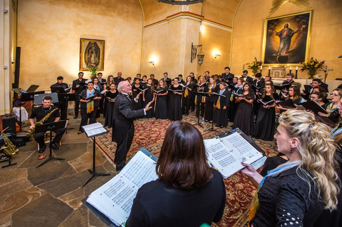The San Antonio Chamber Choir during a recent rehearsal. Courtesy photo.