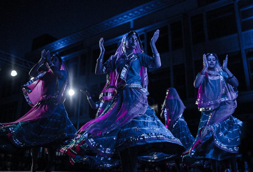 Dancers at the 2014 Diwali festival at Alamo Plaza. Photo by Scott Ball.