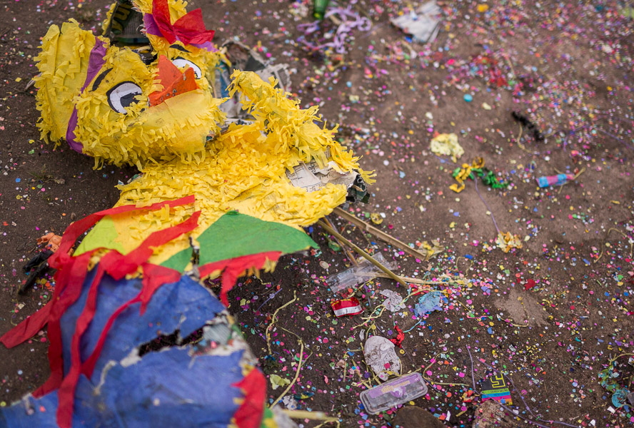 A piñata lays on the ground at Brackenridge Park after Easter 2015. Photo by Scott Ball.