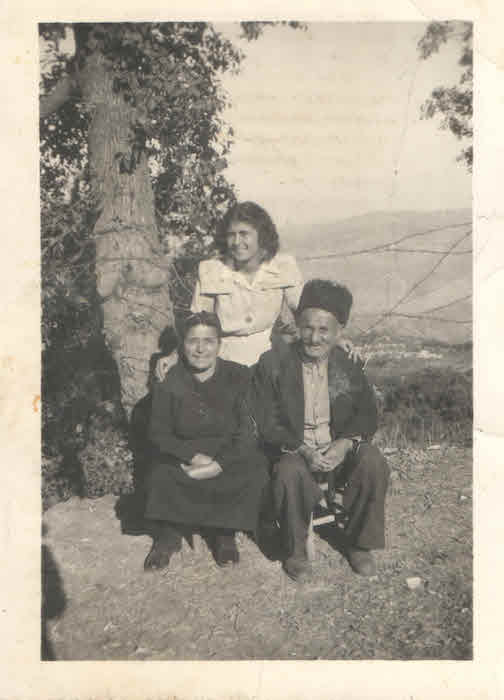 Siran with parents Zarman and Khatchig in Beirut in 1947. Courtesy of Tina Karagulian.