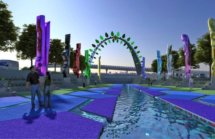 Preliminary design rendering for San Pedro Creek Improvements Project.