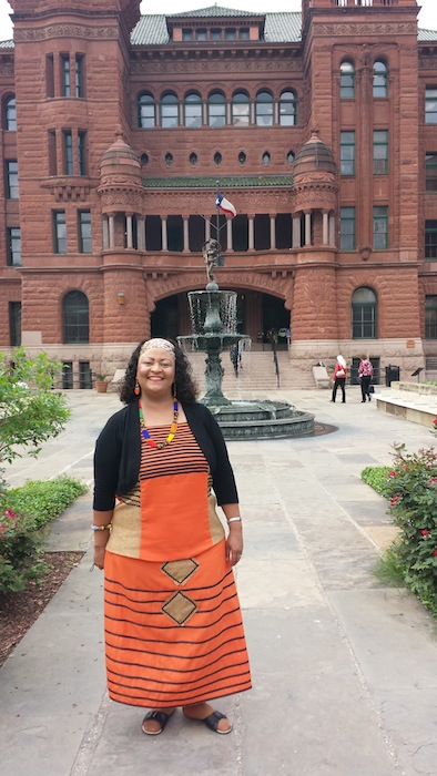 Namibian Councilwoman Brunhilde Cornelius visits the Bexar County Courthouse. Courtesy photo.