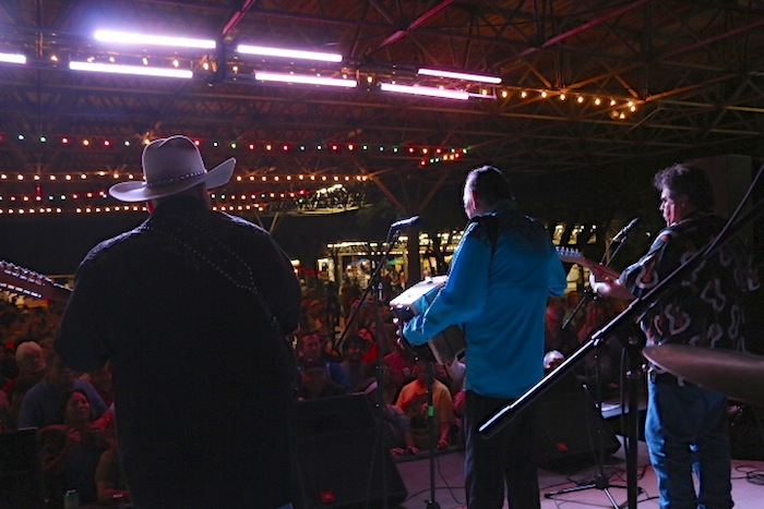 Flaco and his band played to a full house at the 34th Annual Tejano Conjunto Festival. Photo by Amanda Lozano.