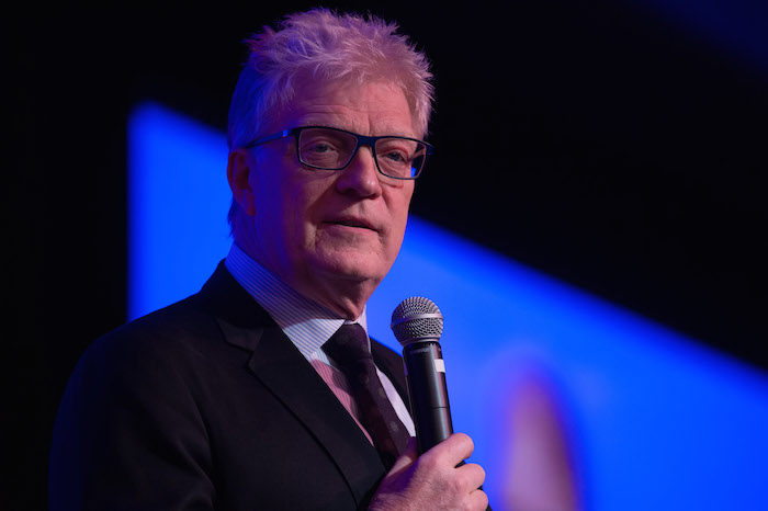 Sir Ken Robinson speaks during the 2015 H-E-B Excellence in Education Awards on Sunday. Courtesy photo.