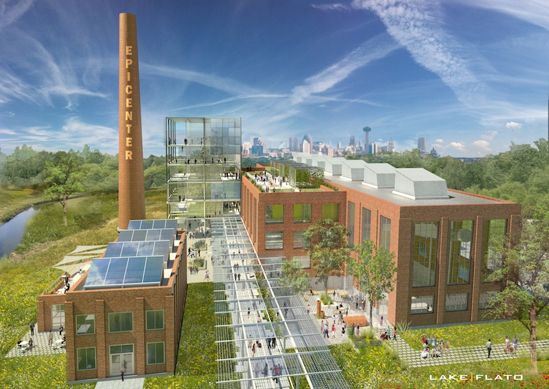 A preliminary rendering of what the EPIcenter could look like. Lake/Flato Architects and CPS Energy.