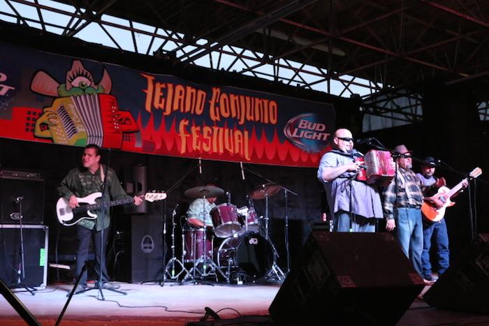 Flavio Longoria and the Conjunto Kingz performed on Friday at the 34th Annual Tejano Conjunto Festival. Photo by Amanda Lozano
