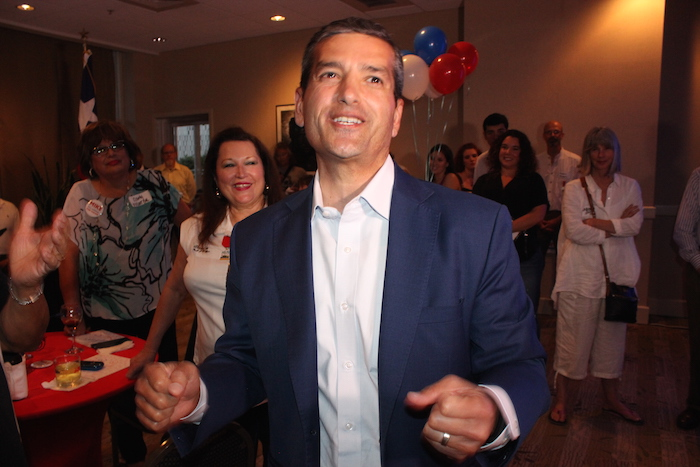 Former State Rep. Mike Villarreal conceded his defeat in the San Antonio mayoral election on Saturday night. Photo by Lea Thompson.