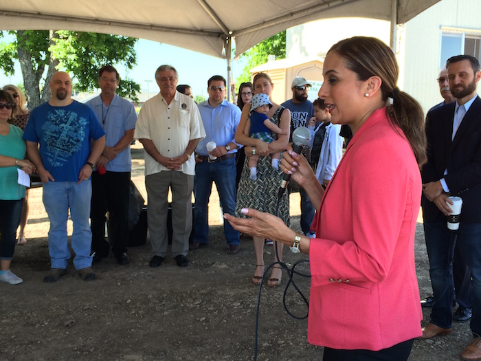 State Representative Ina Minjarez voices her support for Carpe Diem Innovative School - Westwood. Photo by Bekah McNeel