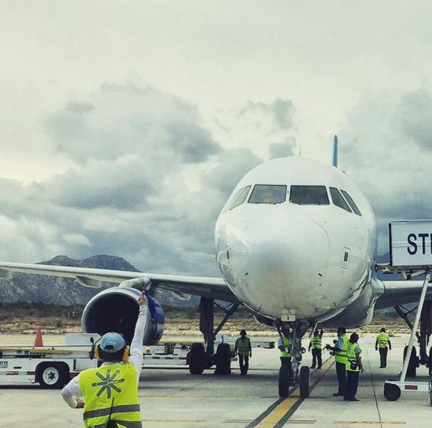 An Interjet plane on a runway. Photo courtesy of Interjet.