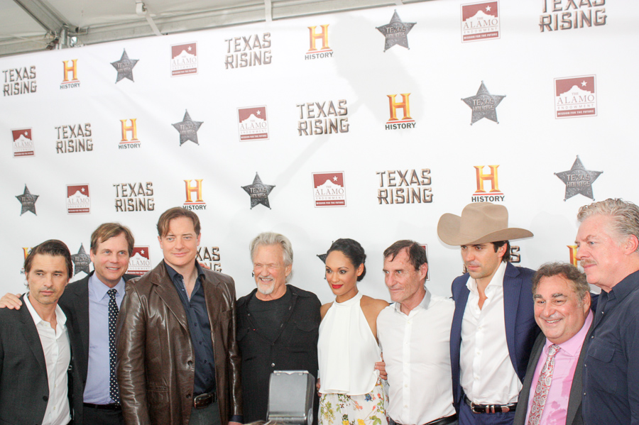 """Stars of HISTORY's """"Texas Rising"""" miniseries gather at the Alamo. Photo by Kay Richter."""