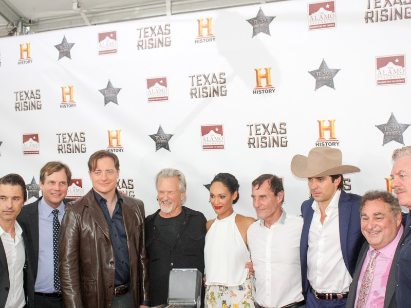 "Stars of HISTORY's ""Texas Rising"" miniseries gather at the Alamo. Photo by Kay Richter."