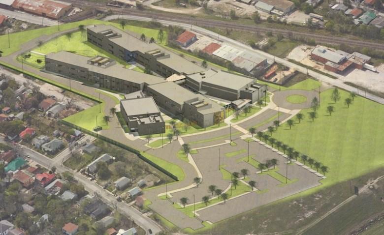 Rendering of KIPP San Antonio's new Cevallos Street campus courtesy of Alamo Architects.