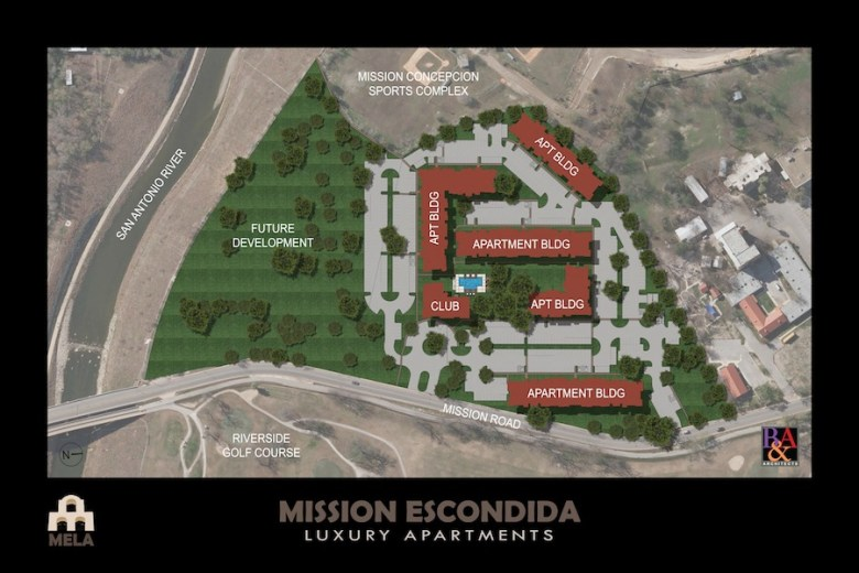 Site map of Mission Espondida Luxury Apartments.