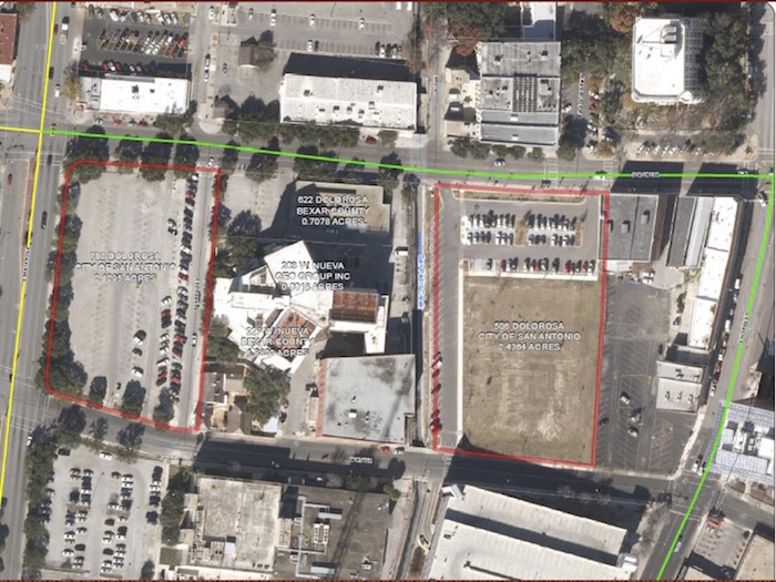 Eight-acre, one-square block parcel along Dolorosa and Santa Rosa.