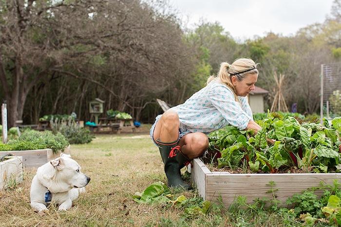 Karla Toye and her dog, Mama. Photo by Rachel Chaney.
