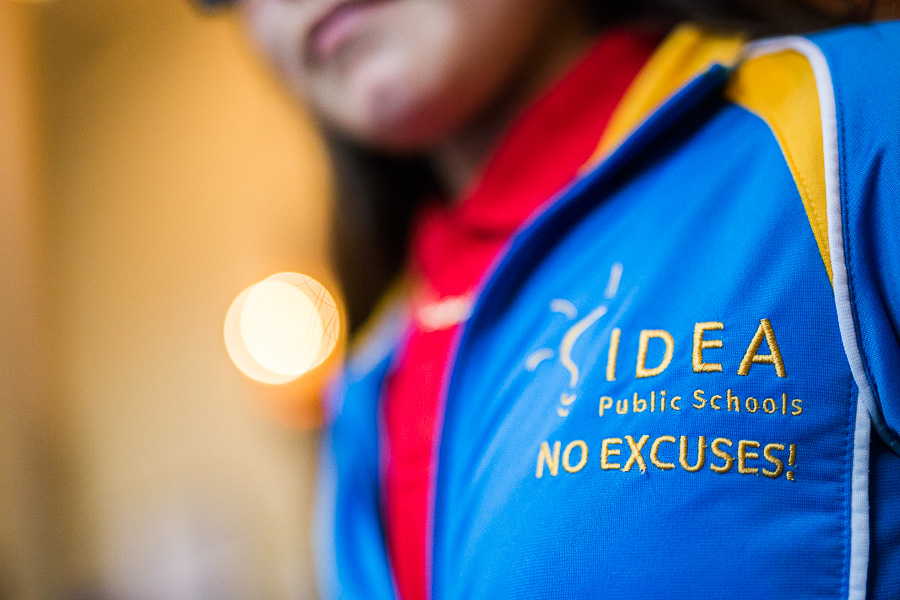 An IDEA Public Schools jacket during the IDEA Public Schools luncheon. Photo by Scott Ball.