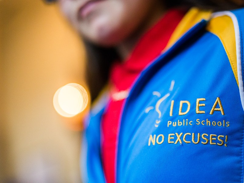An IDEA Public Schools jacket during the IDEA Public Schools luncheon. Photo by Scott Ball.