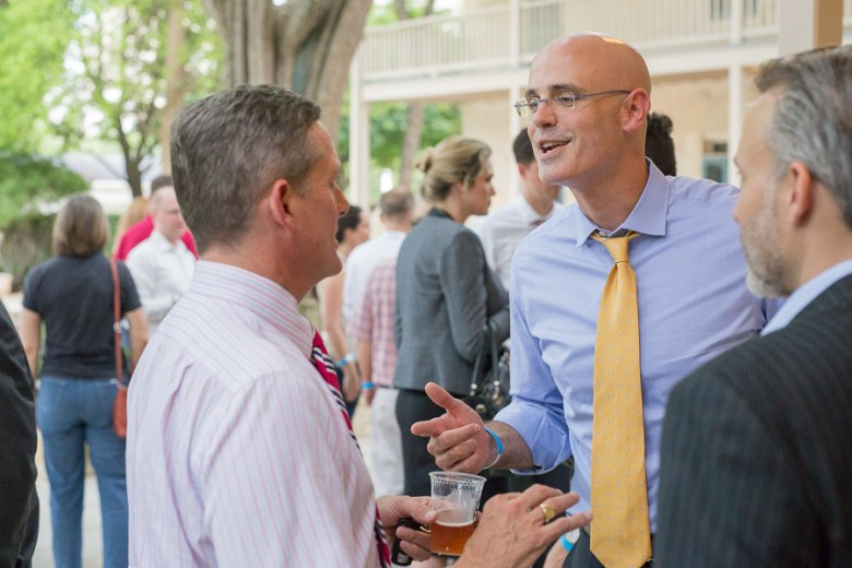 Weston Urban President and CEO Randy Smith socializes with other guests. Photo by Scott Ball.