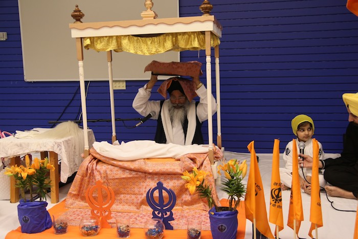 Ceremonies for Vaisakhi at Sikh Dharamsal. The festival celebrates the founding of the Sikh community every April 14. Photo courtesy of Sikh Dharamsal.