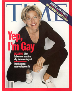 Famous Time magazine cover when Ellen deGeneres came out