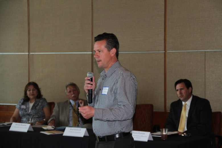 Brad Bridwell of Cloudbreak Communities tells the crowd what strategies worked in Pheonix. Photo courtesy of the City of San Antonio.