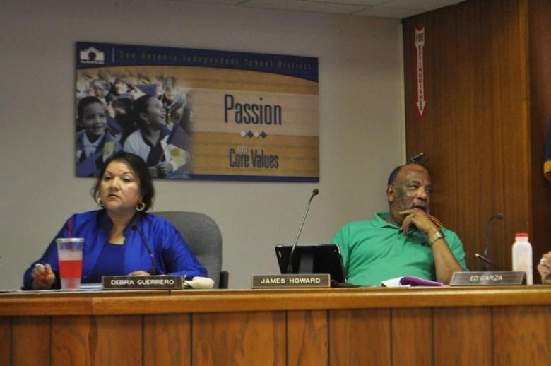 From left: Trustee Debra Guerrero (D3) and Trustee James Howard (D2). Photo by Iris Dimmick.