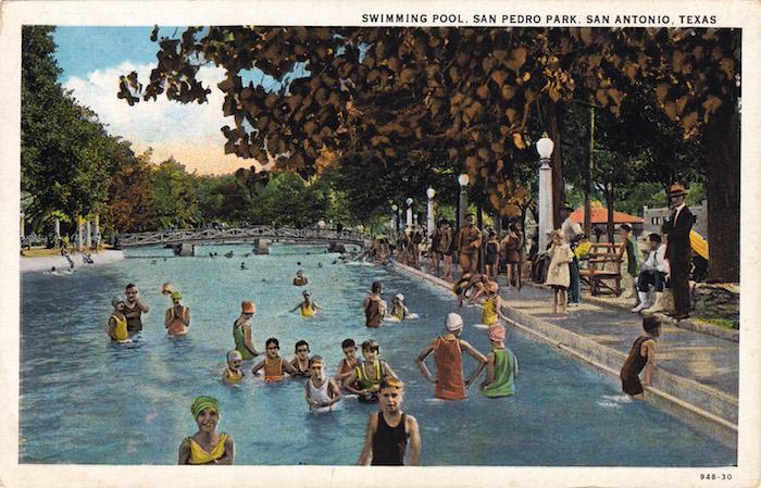 A postcard of San Pedro Springs Park. Courtesy image.