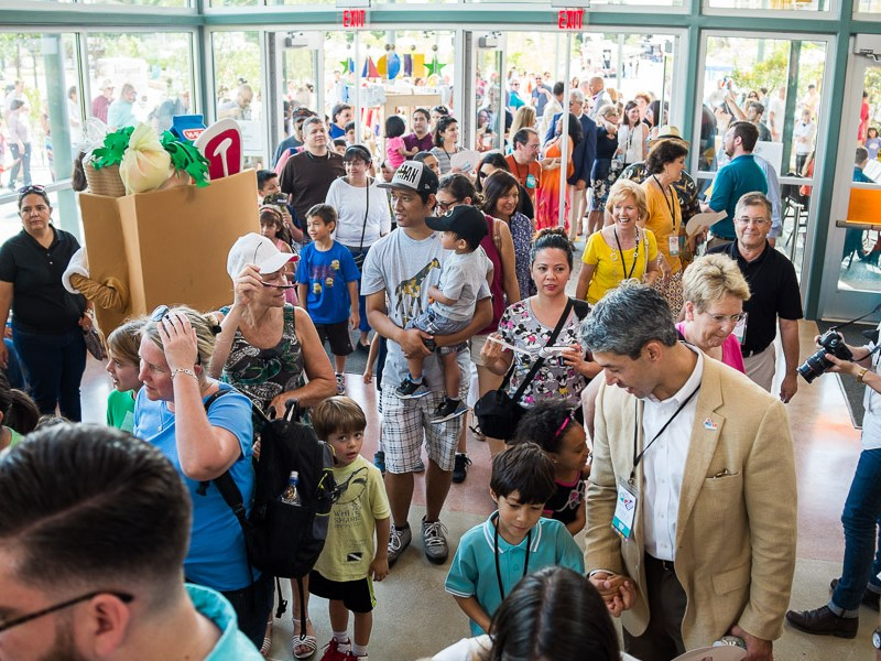 Guests enter The DoSeum for the first time. Photo by Scott Ball.