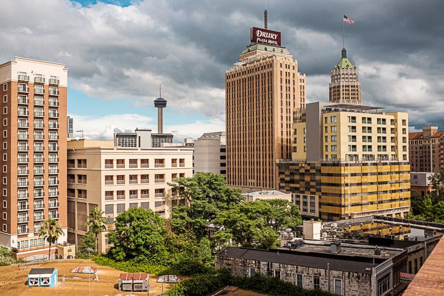 Clouds accumuliate over San Antonio. Photo by Scott Ball.