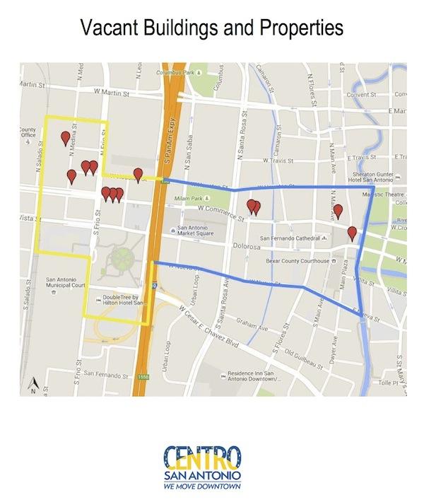 zona culural vacant buildings map