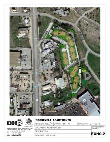 Conceptual designs for Roosevelt Apartments.