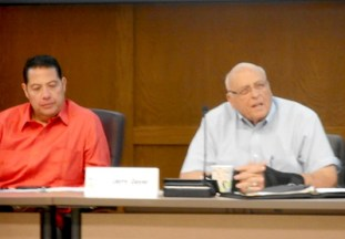 Michael Cortez and Jerry Geyer are co-chairs of the San Pedro Creek Improvements Project Subcommittee. Photo by Don Mathis.