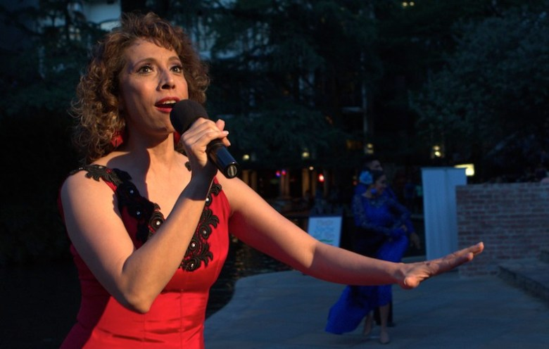 Elizabeth Sanchez performs during the 2015 Fiesta Noche del Rio. Photo by Paul Casanova Garcia.