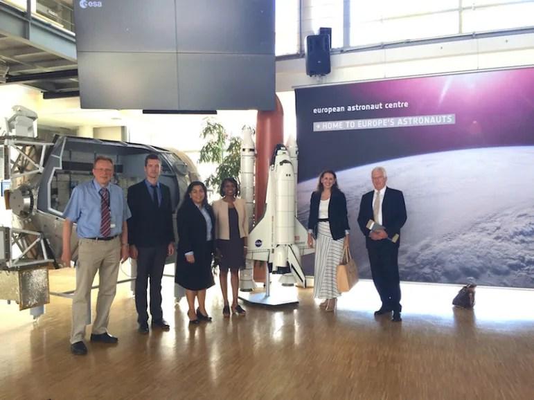 German Aerospace Center - German executive, JL Mette, CW Viagran, Mayor Taylor, Sherry Dowlatshahi, German executive