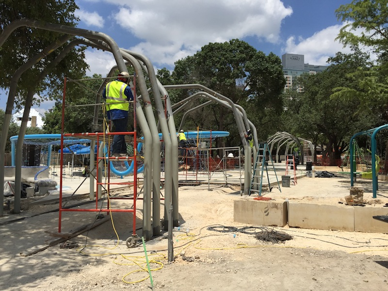 Hemisfair Park's new, main walkway through the park will provide a shade canopy for visitors. Photo courtesy of Hemisfair.